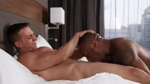 Gods Of Men - Ace Quinn with tattooed Trent King licking ass