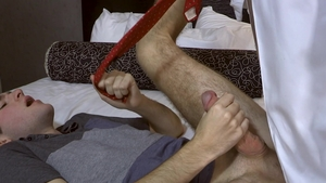 FamilyDick.com - Lance Hart and Brayden Wolf roleplay in hotel