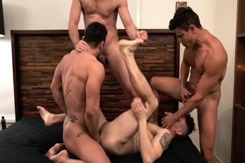 Asher Hawk Services Three Rock-Hard naked dicks