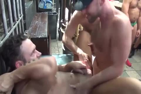 MusclePup Logan Moore Acquires group pounded Barebacked plow