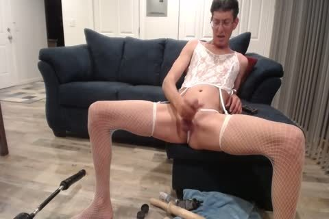 Crossdressing Sissy hooker Faggot With poke Machine Eats cum