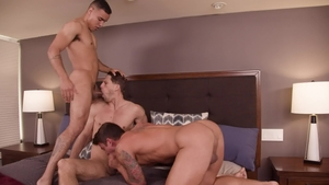 Next Door Buddies - Caucasian Roman Todd sensual kissing