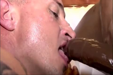 White boy gets Creampied By Two black ramrods