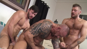 Men Over 30 - Inked Scott DeMarco gay masturbation porn