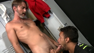 Pride Studios - Hairy Jay Alexander masturbation cum on face