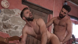 HotHouse: Hector De Silva with hairy Abraham Al Malek stroking