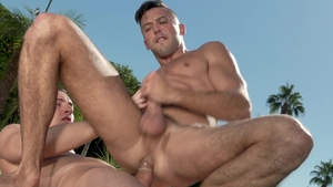 Falcon Studios: Wet Tristan Hunter masturbating sex tape