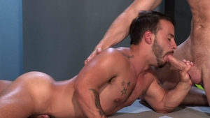 Raging Stallion - Tattooed Rafael Lords butt sex masturbation