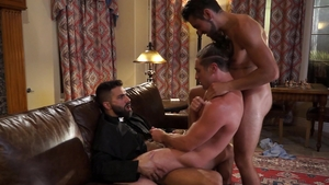 FalconStudios: Spit with thick Dante Colle beside Calvin Banks
